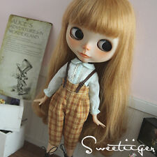 "【Tii】Overalls Bib outfit 12"" 1/6 doll Blythe/Pullip/azone Clothes Handmade girl"