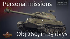 World of Tanks WoT Object 260 60 Personal missions | Not bonus code, Not account