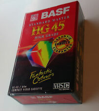 BASF HG 45 VHS C Compact Video Cassette Camcorder Tape 45 Minute New & Sealed