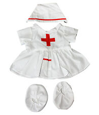 "Nurse Outfit Teddy Bear Clothes Fits Most 14""  -18"" Build-A-Bear and More"
