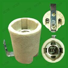2x E14 SES Ceramic Porcelain Socket Light Bulb Lamp Holder with Fixing Bracket