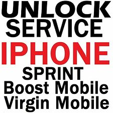 Sprint / Boost / Virgin Iphone 5S / 5C / 5 / 4S Premium Unlock Service Code