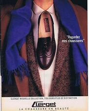 PUBLICITE ADVERTISING 045 1985 CLERGET  chaussures pour hommes
