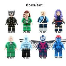 2 - X-Men - Marvel - minifigures LEGO PACK 8 - Lobezno, Xavier, Mistica, etc