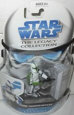 "Hasbro  STAR   WARS  CLONE TROOPER  OFFICER (green) yr2008  33/4"" Action  Figure"