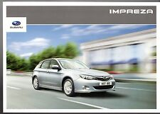 Subaru Impreza 2010 UK Market Sales Brochure 1.5 2.0 2.0D RC RX