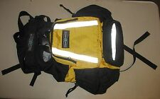TRUE NORTH USED LARGE REFLECTIVE FIREMAN BACK PACK BACKPACK Yellow & Black