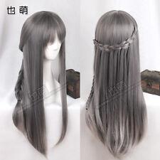 Sweet Lolita Harajuku Gray Gradient Cosplay Wig Princess Long Straight Hair #23T