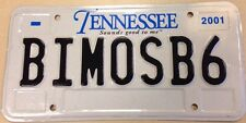 Tennessee vanity BIMOTA SB6 license plate Motorcycle Bike Motorbike Cycling race