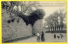 cpa 44 - GUERANDE La TOUR ST JEAN Fortification Bas Mail Enfant Belle animation