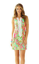 LILLY PULITZER FLAMINGO PINK SOUTHERN CHARM CATHY SHIFT DERBY DRESS 4 S BNWT