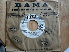HERBIE COX~VACATION IN THE MOUNTAINS~LEAVE MY WOMAN ALONE~RAMA ~ DOO WOP 45