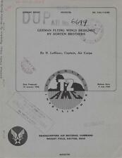 1946 AAF T-2 TECHNICAL REPORT-GERMAN FLYING WINGS DESIGNED BY HORTEN BROTHERS-CD