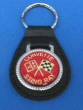 CORVETTE STINGRAY AUTO LEATHER KEYCHAIN KEY CHAIN RING FOB #142