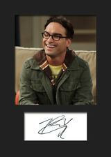 TBBT JOHNNY GALECKI #2 A5 Signed Mounted Photo Print (RePrint) - FREE DELIVERY