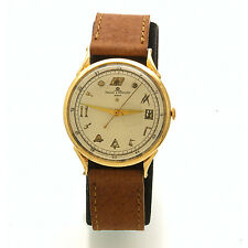 14K Gold Baume et Mercier Masonic Wrist Watch with Sweep Second CA1960s