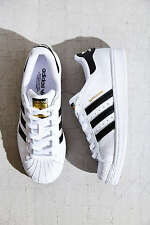 Women's Adidas Superstar Size 6.5 Sneakers White Black Gold Originals Foundation