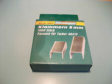Mannesmann Staples 1000 pcs. Set    8mm Tacker Staples VPA GS TUV
