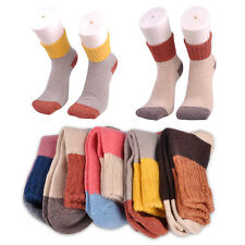 5 Pairs Multicolor Wool Cashmere Socks Warm Women Girl Thick Winter Soft Casual