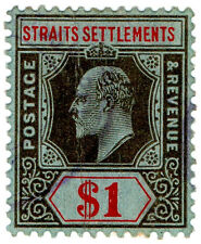 (I.B) Malaya (Straits Settlements) Revenue : Duty Stamp $1