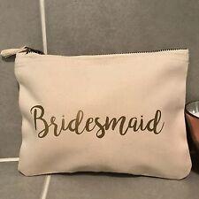Demoiselle d'honneur make up sac pochette-cadeau de mariage merci faveur-crème or vintage
