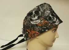 SKULLS/  MEN'S  SCRUB CAP/SURGICAL HAT