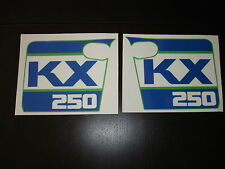 1988 KAWASAKI KX 250 RADIATOR SHROUD DECAL KIT AHRMA VINTAGE MOTOCROSS