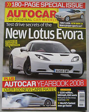 Autocar 17-24/12/2008 featuring Lotus Evora, Bloodhound SSC , BMW, Airbus A380