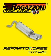 RAGAZZON TERMINALI ROTONDI 2x80mm FIAT GRANDE PUNTO 1.4 57kW 09/05- 50.0128.26