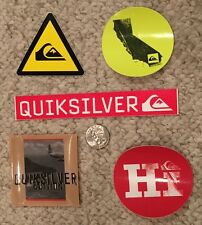 Quiksilver Vintage RARE Sticker Collection - Lot of 5 Hawaii HI California Yield