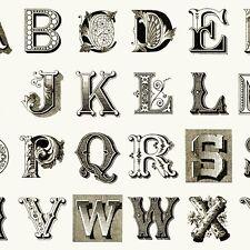SALE Quilting Treasures Stitch Janet Wecker-Frisch Alphabet Large Fabric BTY