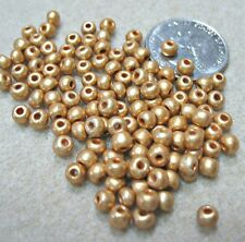 Czech Gold Seed Beads 6/0 ~4mm 50 grams ~500 Beads Weaving Embroidery Spacers