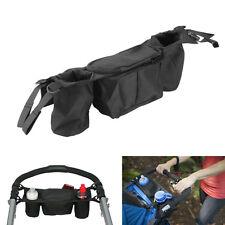 Kid Baby Stroller Pushchair safe Console Tray Pram Hanging Bag Bottle Cup Holder