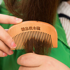 Hair Massage Sandalwood Wooden Anti-Static Combs Beard Mustache Comb Hair Brush
