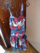 taille1('36-38)coquette robe voile a bretelles ,jupon dessous