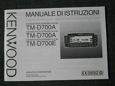 MANUALE ITALIANO RICETRASMETTITORE KENWOOD TM-D700E/A