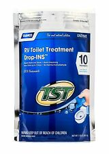 Camco RV Toilet Treatment Drop Ins 10 PACK. TST Blue Enzyme Trailer Camper Waste