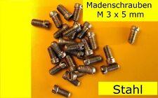 Verschiedene Madenschrauben M3 siehe Foto Schrauben Eisenwaren Heimwerker