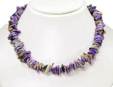 Wunderschöne Halskette  aus dem Edelstein Charoit in unreglmäßiger Form