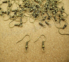 Hot 100Pcs Gold/Silver Plated Earring Hook Coil Ear Wire Jewelry Finding 18mm