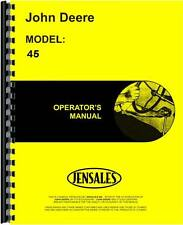 John Deere 45 Combine Operators Manual (SN)