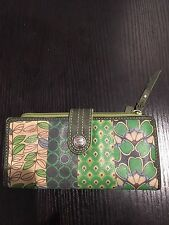 Fossil What Vintage Are You Multicolor Leather Wallet Organizer Coin Purse