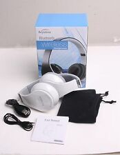 White Over-ear Bluetooth Headphones with Mic for all Cell Phone Laptop PC Tablet