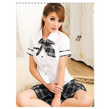 1x women Sexy Japanese high school girl dress uniform Skirt costume full outfit