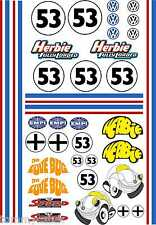 1-10 Scale Model Herbie VW Beetle Style Exterior Vinyl Decals A4 Sheet