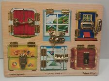 Melissa & Doug Latches Board Occupational Therapy Educational Daycare Kids Toy