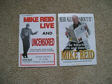MIKE READ - 2 different Lovely colour tour flyers (Mint) great comedy