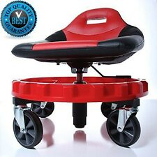 Mechanics Chair Seat Tools Work Stool Garage Creeper Tray Rolling w/ HEAVY-DUTY