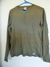 Womens Carhartt Olive Green Long sleeve Henley knit Top Shirt Blouse Sz  large