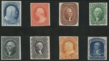 #40P4-47P4 COMPLETE SET 1875 REPRINT PLATE PROOFS ON CARD HV8949